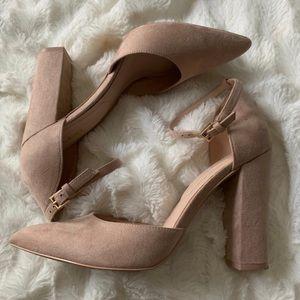 ALDO light pink/nude heels